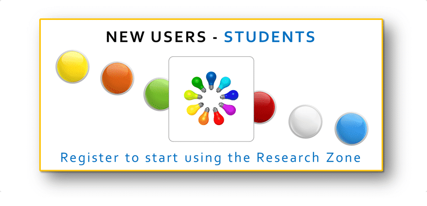 New users - Register to use the Research Zone here