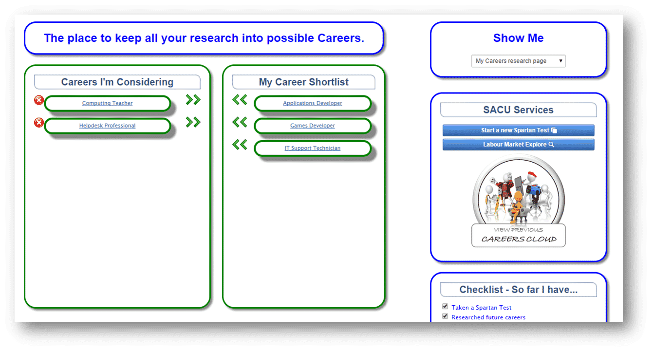 Research Zone - Bookmark Careers